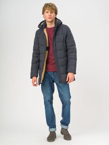 Пуховик текстиль, цвет темно-синий, арт. 26108719  - цена 6630 руб.  - магазин TOTOGROUP