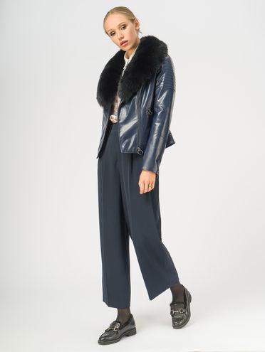 Кожаная куртка эко-кожа корова, цвет темно-синий, арт. 26108840  - цена 14190 руб.  - магазин TOTOGROUP