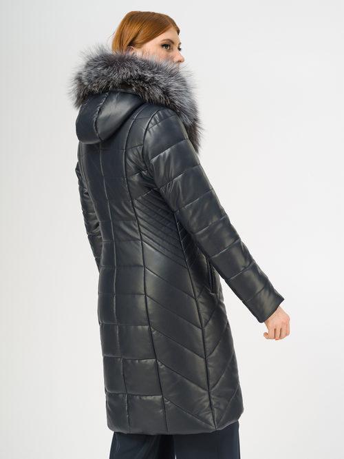 Кожаное пальто артикул 26108852/44 - фото 3
