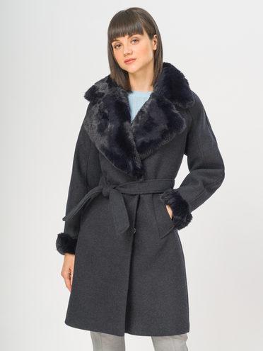 Текстильное пальто 35% шерсть, 65% полиэстер, цвет темно-синий, арт. 26109134  - цена 5890 руб.  - магазин TOTOGROUP