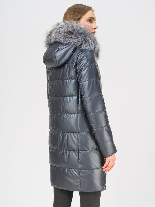 Кожаное пальто артикул 26109188/42 - фото 3