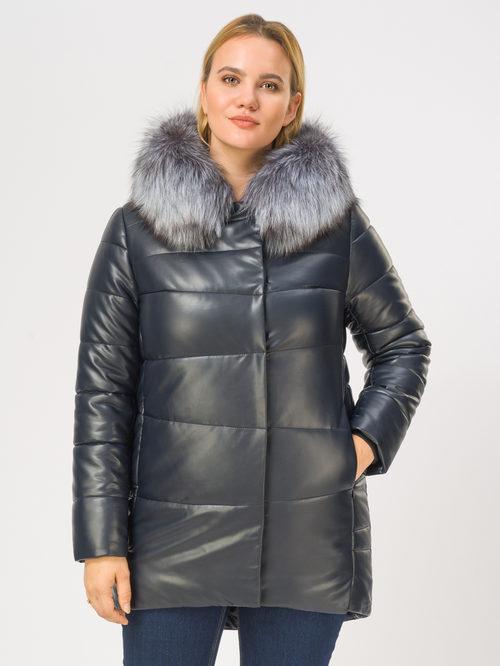 Кожаное пальто артикул 26109362/46 - фото 2