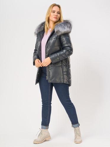 Кожаная куртка эко-кожа 100% П/А, цвет темно-синий, арт. 26109362  - цена 12690 руб.  - магазин TOTOGROUP