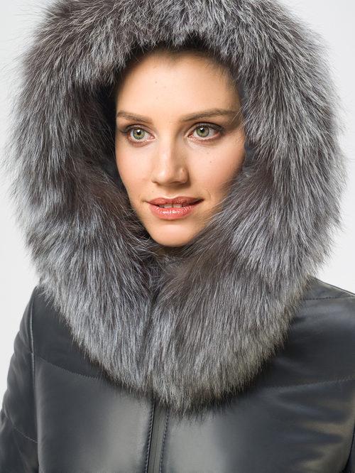 Кожаное пальто артикул 26109364/42 - фото 4