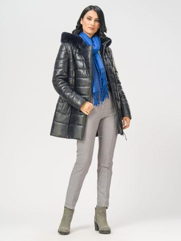 Кожаная куртка кожа , цвет темно-синий, арт. 26109368  - цена 22690 руб.  - магазин TOTOGROUP