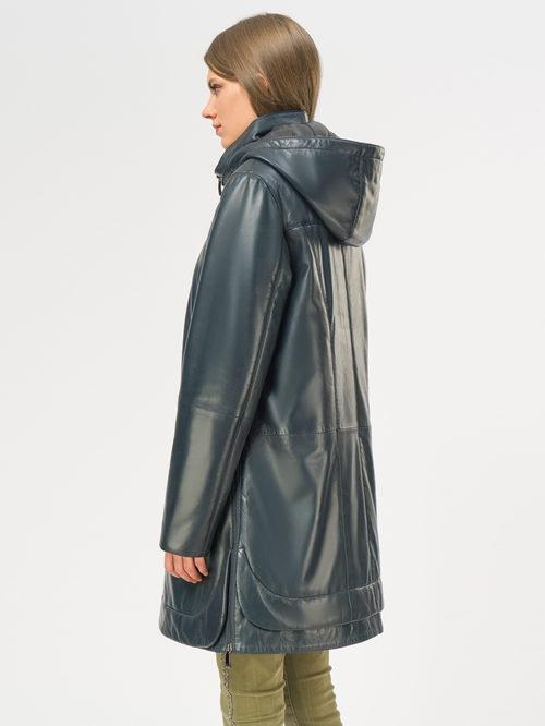 Кожаное пальто артикул 26109534/44 - фото 3