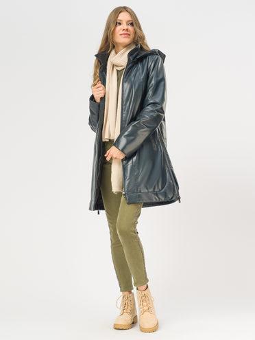 Кожаное пальто кожа, цвет темно-синий, арт. 26109534  - цена 21290 руб.  - магазин TOTOGROUP