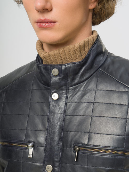 Кожаная куртка артикул 26109538/48 - фото 4
