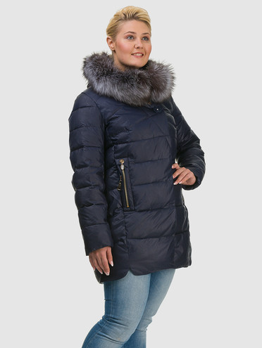 Пуховик текстиль, цвет темно-синий, арт. 26601774  - цена 6290 руб.  - магазин TOTOGROUP