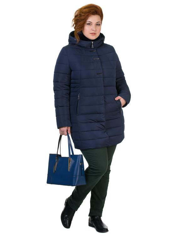 Пуховик текстиль, цвет темно-синий, арт. 26601964  - цена 5890 руб.  - магазин TOTOGROUP