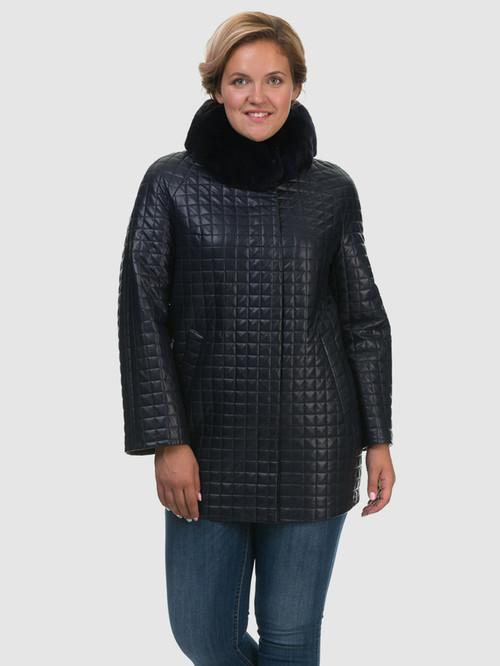 Кожаное пальто артикул 26602455/48 - фото 2