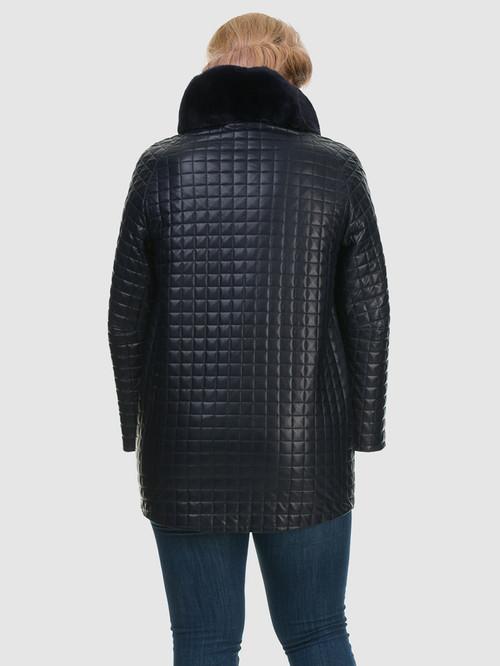 Кожаное пальто артикул 26602455/48 - фото 3