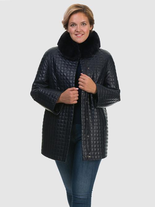 Кожаное пальто артикул 26602455/48 - фото 4