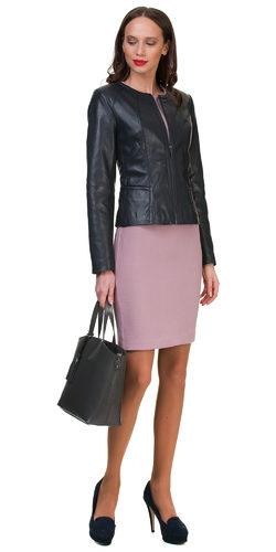 Кожаная куртка кожа овца, цвет темно-синий, арт. 26700044  - цена 14190 руб.  - магазин TOTOGROUP