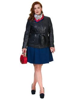 Кожаная куртка кожа овца, цвет темно-синий, арт. 26700106  - цена 13390 руб.  - магазин TOTOGROUP