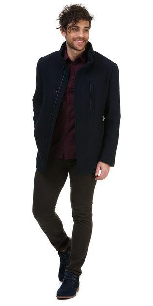 Текстильная куртка 51% п/э,49%шерсть, цвет темно-синий, арт. 26700203  - цена 5192 руб.  - магазин TOTOGROUP