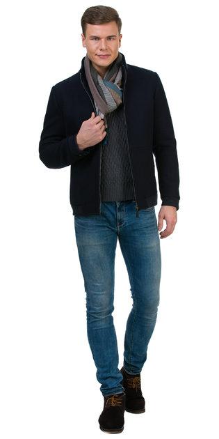 Текстильная куртка 51% п/э,49%шерсть, цвет темно-синий, арт. 26700207  - цена 6190 руб.  - магазин TOTOGROUP