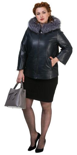 Кожаная куртка кожа овца, цвет темно-синий, арт. 26700520  - цена 14392 руб.  - магазин TOTOGROUP