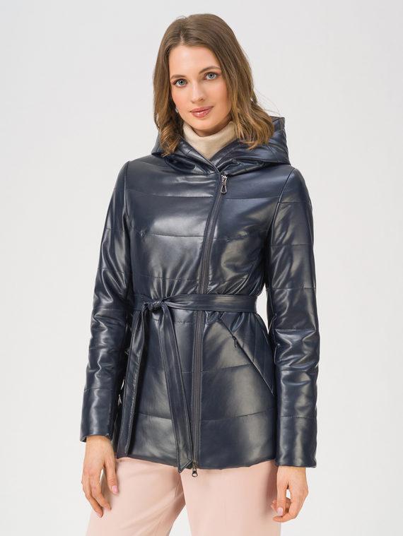 Кожаная куртка эко-кожа 100% П/А, цвет темно-синий, арт. 26711500  - цена 7990 руб.  - магазин TOTOGROUP