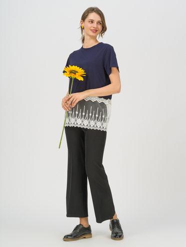 Блуза 80% хлопок, 20% п\э, цвет темно-синий, арт. 26711705  - цена 890 руб.  - магазин TOTOGROUP