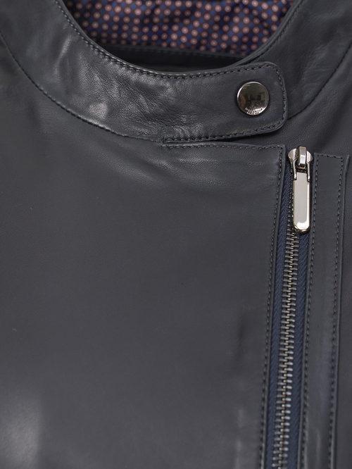Кожаная куртка артикул 26802473/48 - фото 3
