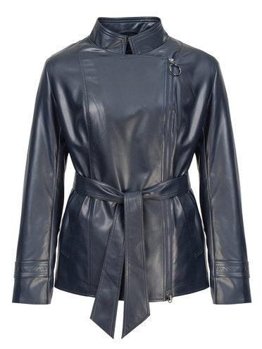 Кожаная куртка эко-кожа 100% П/А, цвет темно-синий, арт. 26810036  - цена 5890 руб.  - магазин TOTOGROUP