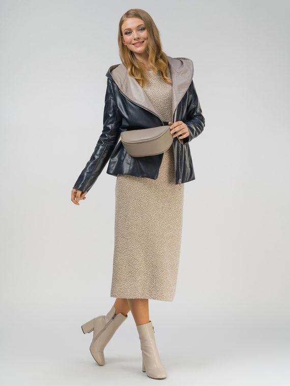Кожаная куртка эко-кожа 100% П/А, цвет темно-синий, арт. 26810037  - цена 6630 руб.  - магазин TOTOGROUP