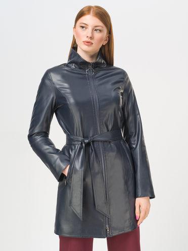 Кожаное пальто эко-кожа 100% П/А, цвет темно-синий, арт. 26810038  - цена 3990 руб.  - магазин TOTOGROUP