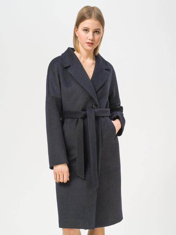 Текстильное пальто 35% шерсть, 65% полиэстер, цвет темно-синий, арт. 26810095  - цена 6990 руб.  - магазин TOTOGROUP
