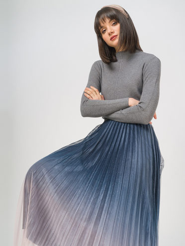 Юбка 100% полиэстер, цвет темно-синий, арт. 26810253  - цена 1490 руб.  - магазин TOTOGROUP
