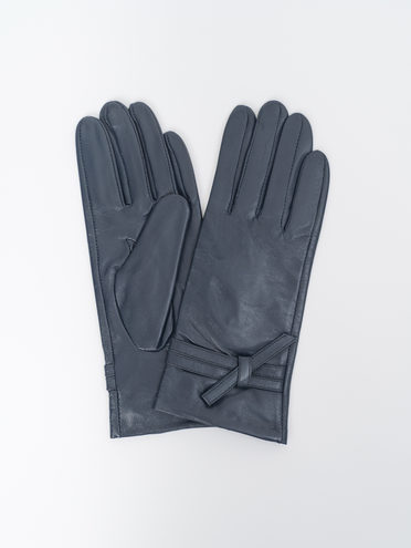 Перчатки кожа, цвет темно-синий, арт. 26810322  - цена 1260 руб.  - магазин TOTOGROUP