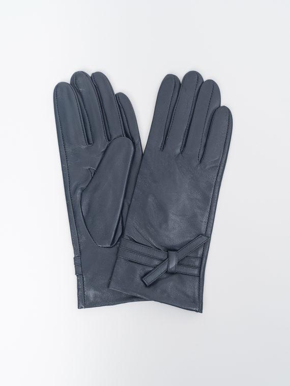 Перчатки кожа, цвет темно-синий, арт. 26810322  - цена 990 руб.  - магазин TOTOGROUP