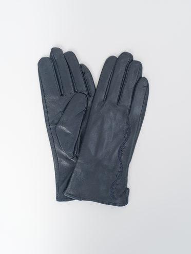 Перчатки кожа, цвет темно-синий, арт. 26810331  - цена 890 руб.  - магазин TOTOGROUP