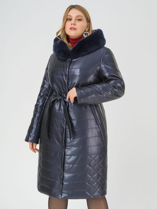 Кожаное пальто артикул 26810767/52 - фото 2