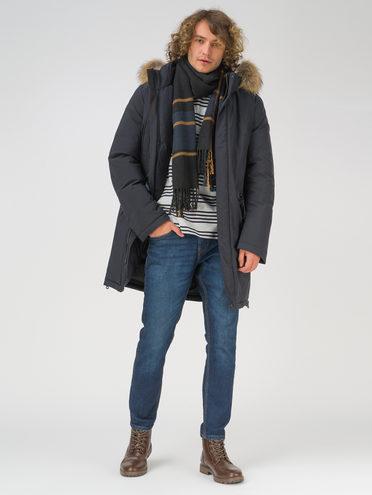 Пуховик текстиль, цвет темно-синий, арт. 26810906  - цена 11290 руб.  - магазин TOTOGROUP