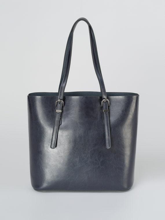 Сумка кожа теленок, цвет темно-синий, арт. 26811107  - цена 5890 руб.  - магазин TOTOGROUP