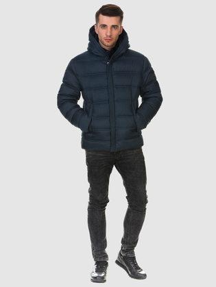 Пуховик текстиль, цвет темно-синий, арт. 26900695  - цена 6990 руб.  - магазин TOTOGROUP