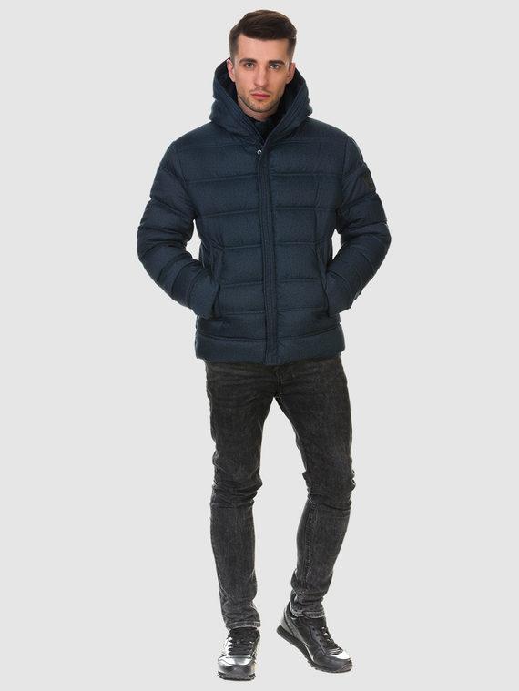 Пуховик текстиль, цвет темно-синий, арт. 26900695  - цена 4990 руб.  - магазин TOTOGROUP