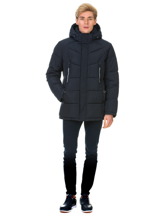 Пуховик текстиль, цвет темно-синий, арт. 26900697  - цена 4990 руб.  - магазин TOTOGROUP