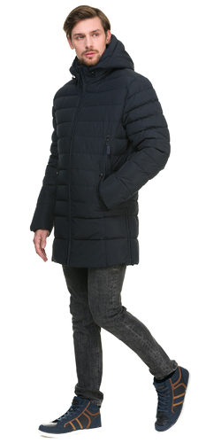 Пуховик текстиль, цвет темно-синий, арт. 26900699  - цена 7490 руб.  - магазин TOTOGROUP