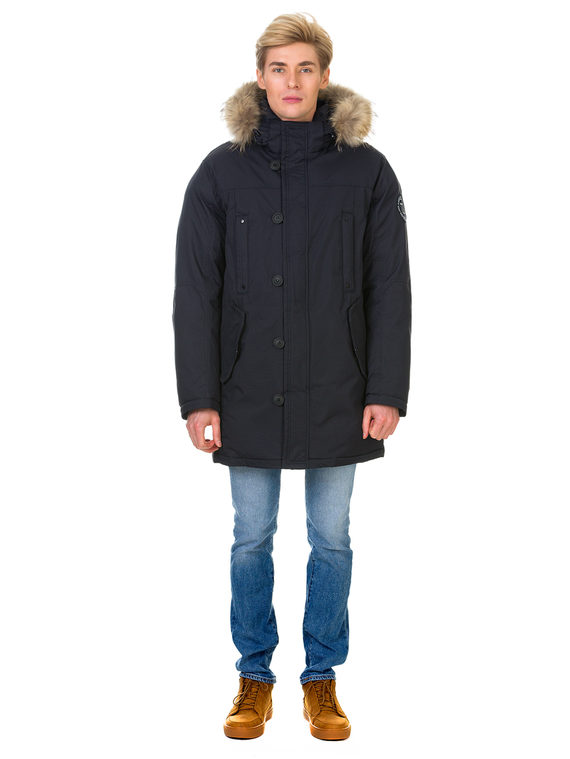 Пуховик текстиль, цвет темно-синий, арт. 26900704  - цена 5890 руб.  - магазин TOTOGROUP