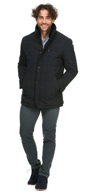 Пуховик текстиль, цвет темно-синий, арт. 26900718  - цена 5590 руб.  - магазин TOTOGROUP