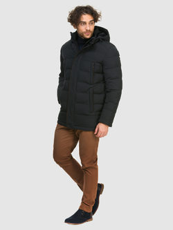 Пуховик текстиль, цвет темно-синий, арт. 26900720  - цена 5890 руб.  - магазин TOTOGROUP