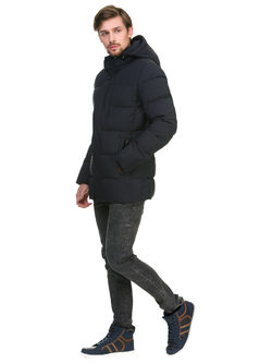 Пуховик текстиль, цвет темно-синий, арт. 26900723  - цена 6630 руб.  - магазин TOTOGROUP