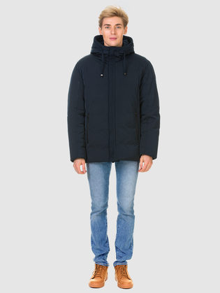 Пуховик текстиль, цвет темно-синий, арт. 26900790  - цена 5590 руб.  - магазин TOTOGROUP