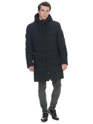 Пуховик текстиль, цвет темно-синий, арт. 26901007  - цена 7490 руб.  - магазин TOTOGROUP