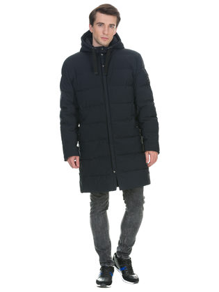 Пуховик текстиль, цвет темно-синий, арт. 26901007  - цена 8990 руб.  - магазин TOTOGROUP