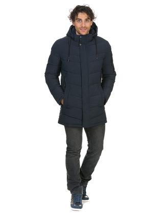 Пуховик текстиль, цвет темно-синий, арт. 26902631  - цена 5890 руб.  - магазин TOTOGROUP