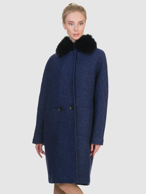 Текстильное пальто артикул 26902700/44 - фото 2