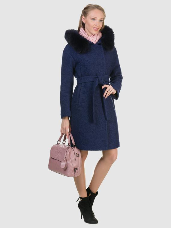 Текстильное пальто 70%шерсть,30%п,а, цвет темно-синий, арт. 26902701  - цена 6990 руб.  - магазин TOTOGROUP